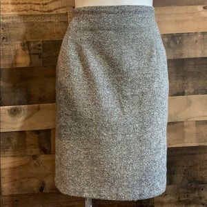 Vintage McNaughton Black White Tweed Pencil Skirt